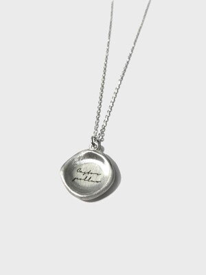 [이니셜 각인] 907 Crater Seal Necklace