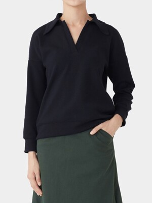 BLACK HANNE POLO TOP
