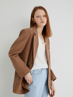 20' SPRING_Earthy Brown Tailored Jacket