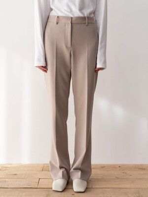 20SP FLARED TAILORED TROUSERS (TAUPE)