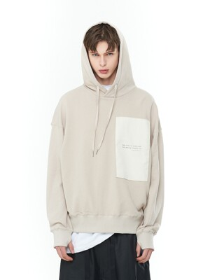 Layered Patch Hood T-Shirts (BE)_ PA1TS1010