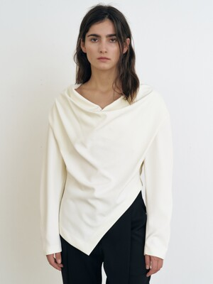 COWL NECK BLOUSE [IVORY]