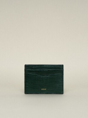 CLASSIC CARD CASE_LIZARD GREEN