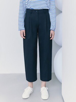 Signature Cotton Tuck Pants  Navy (KE1221M04R)