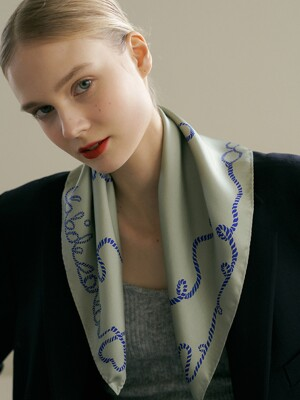love silk mini scarf  (2color)