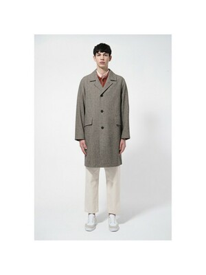 recycle cotton mac coat_CWCAS21002BRX