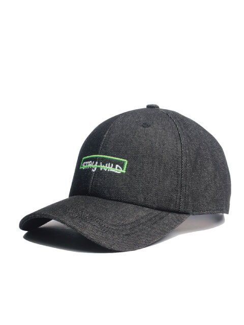 STAY WILD BALL CAP - BLACK