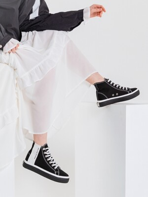[Fellas Studio] Silhouette Hi Black / White MEN