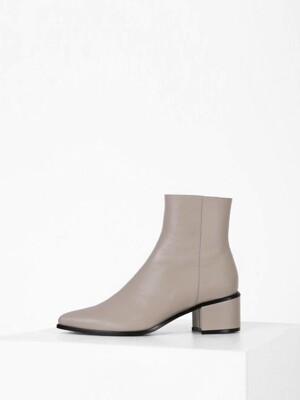 POINTED LINE ANKLE BOOTS - BEIGEGRAY