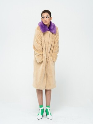 PURPLE COLLAR ECO FUR