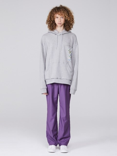 LONG WIDE TROUSERS (Purple)