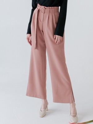 comos'127 waist tucked wide slacks (pink)