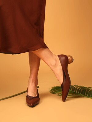 Wood ball pumps [BROWN]