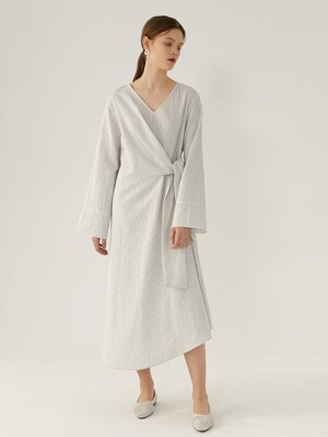RAINA Knotted-Detailed Dress(IVORY)