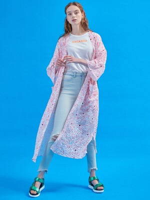 Journey long robe [Tinted pink]