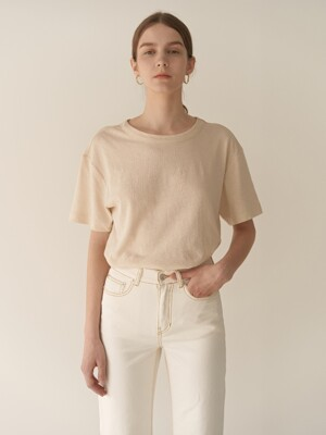 19RESORT LINEN U-NECK SLIT TOP_4COLOR