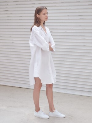 Summer linen shirts dress [WH]