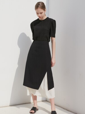 LAYERED SKIRT_BLACK