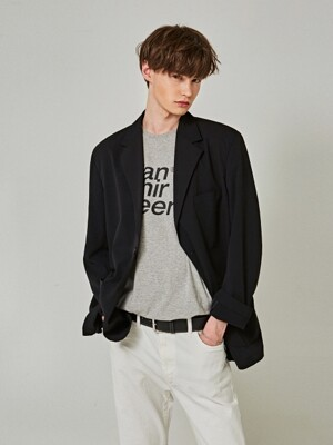 PLAIN OVER SINGLE BLAZER_BLACK