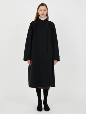 SHIRRING MAXI COAT [D/NAVY]