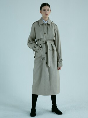ALEX HOODED TRENCH COAT (CHECK) UDCO9E202CM