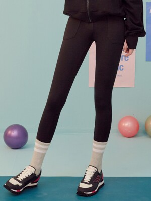 (LS-19562) PANTS LEGGINGS BLACK