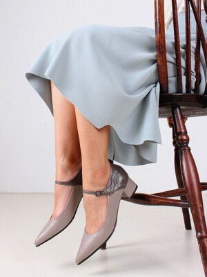 4cm meryjane pumps - gray