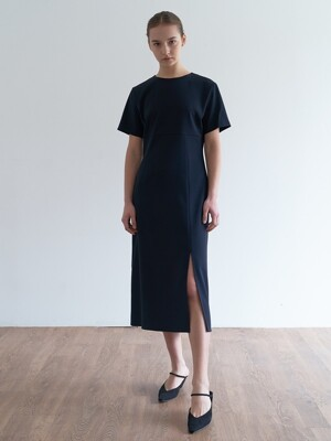 simple slite dress-2colors