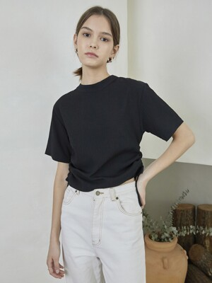 HALF NECK BLOUSE_BK