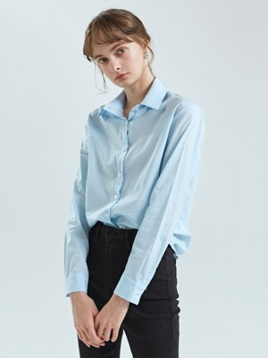 EMERALD COTTON SHIRT_SKY BLUE