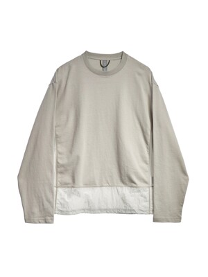 CONTRAST PANEL LONG SLEEVES / LIGHT GREY