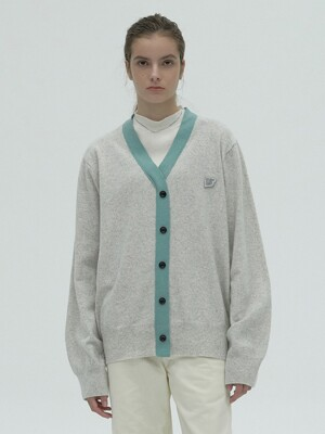 COLOR BLOCK KNITWEAR - GREY