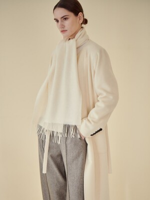 COLLARLESS CLEAN COAT_IVORY