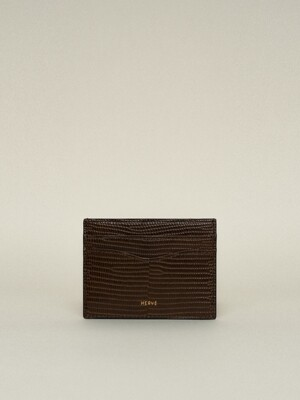 CLASSIC CARD CASE_LIZARD BROWN