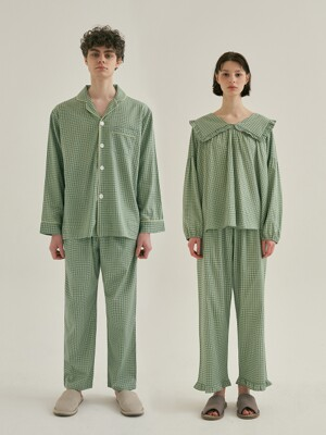 (모달) (Couple) Peppermint Pajama Set + Two Piece