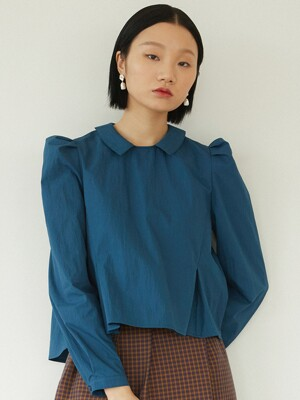 PETITE COLLAR SHIRTS - BLUISH GREEN