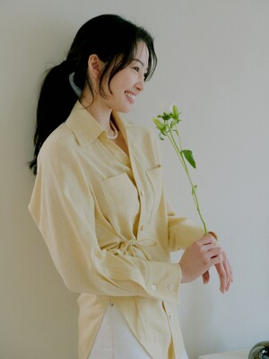 Carrie Unbalance Blouse_Yellow