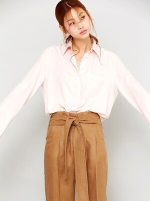 PINK OVER SIZE BASIC SHIRT