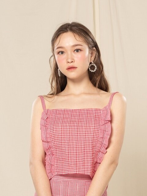 FRILL TOP (RED)