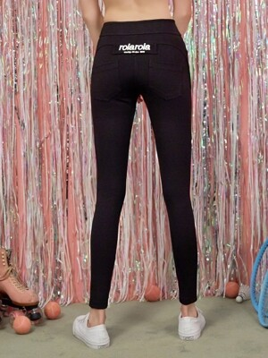 (PT-18556) HIGH WAIST LEGGINGS PANTS BLACK