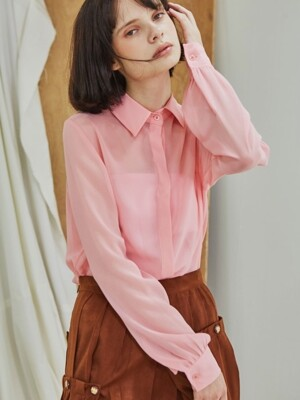 Four Seasons Chiffon Blouse_Pink
