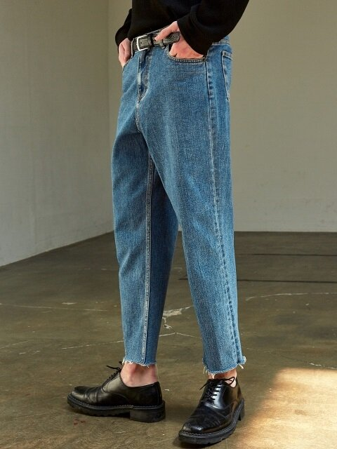 CUTTING CROP BLUE JEAN_DENIM