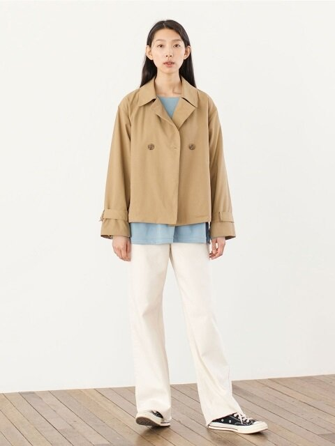 Half Trench Jacket - Camel