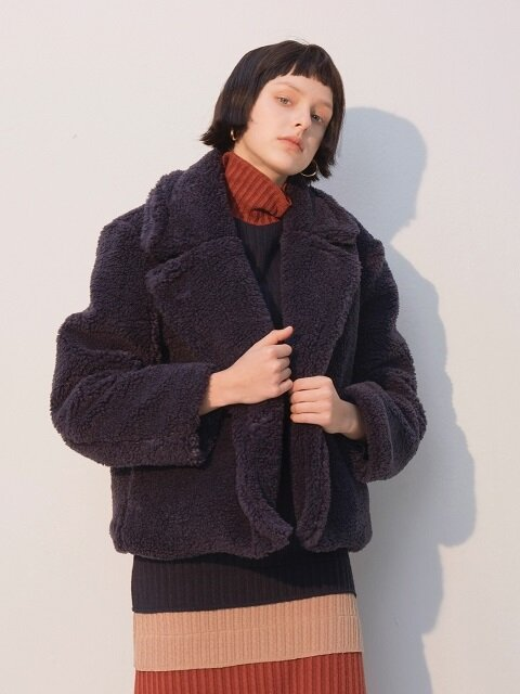 Teddy Bear Coat_Navy