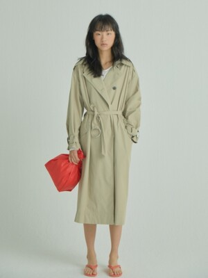 Long and Flow Trench Coat_Beige