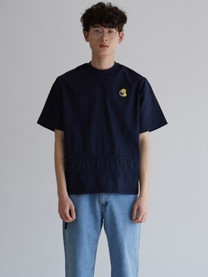 ACHIO SHIRRING T-SHIRT_NAVY