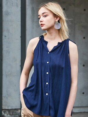 HALTER BLOUSE NAVY