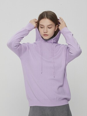 Hooded Knit Lavender