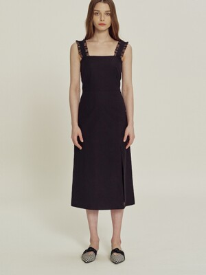 Lou Long black dress_SS3622BL