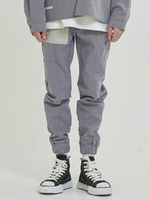 Dual Denim Jogger Pants (gray)